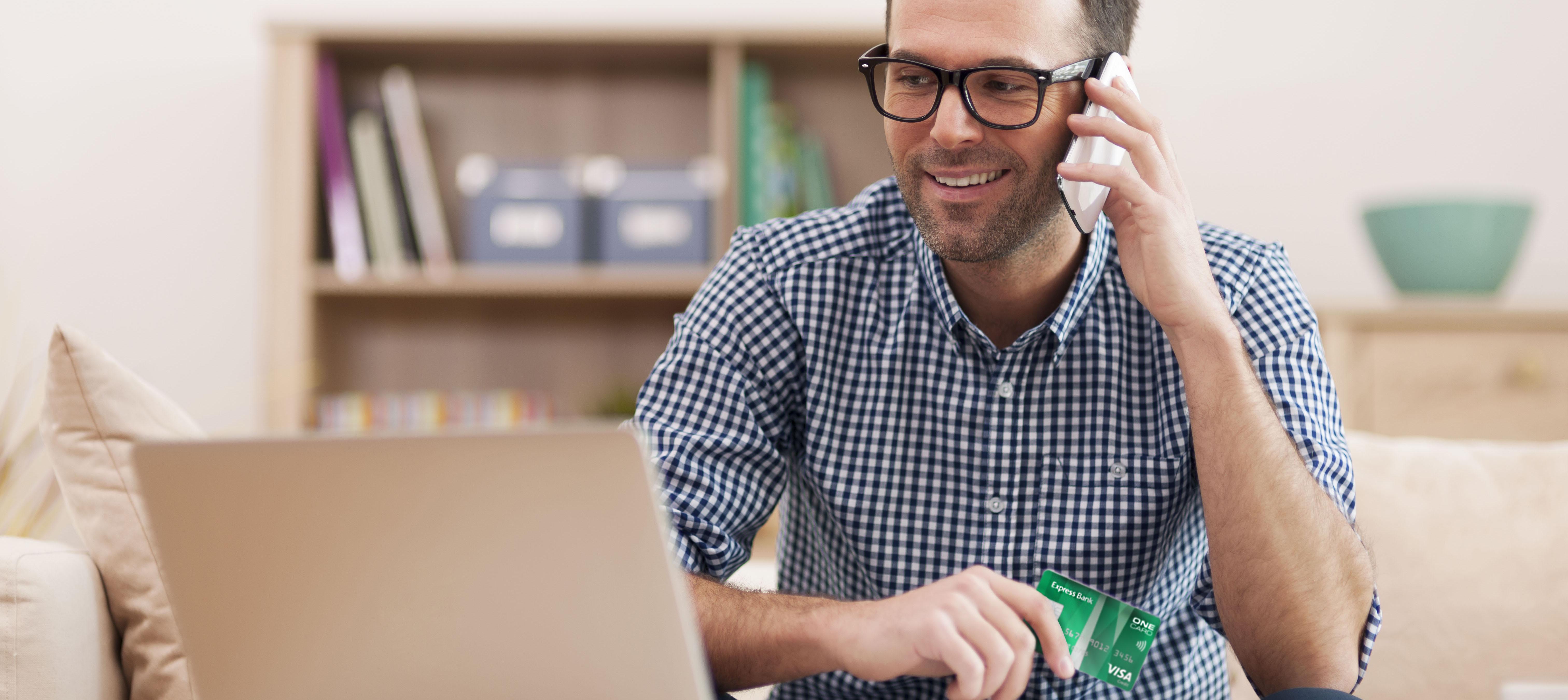 Vi tilbyder et Visa kreditkort med fleksibel tilbagebetaling